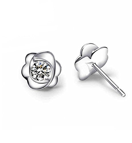 GOWE Fashion 2017 Pure 18K Solid White Gold Moissanite Stud Earrings For Women Round Brilliant Certified 0.6CT VVS G H Birthday Gift