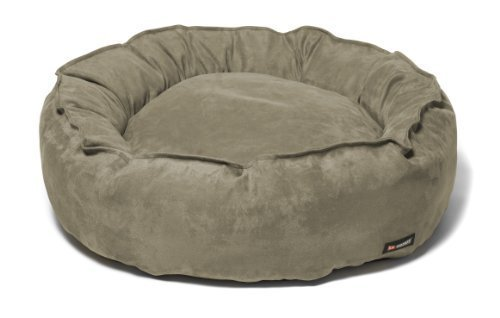 Big Shrimpy Nest Faux Suede Dog Bed, Medium, Stone by Big Sh
