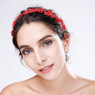 YiLuFanHua MJW&G Femme Dentelle Acrylique Casque-Mariage Occasion spéciale Fleurs 1 Pièce