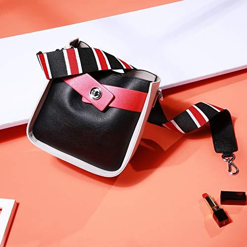 Donna mano Gloozd bag powderwithcaramel Bag a in Messenger Messenger 2 Bag tracolle Whitewithblack pelle Shoulder Borse Donna 55wxqrfn0z