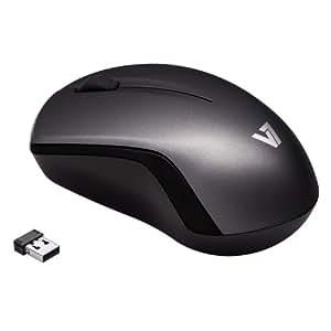 V7 MV3060202-8EB - Ratón inalámbrico, 2.4 GHz, USB, gris oscuro