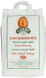 Laxmi Sona Masoori Rice, 10 Pound