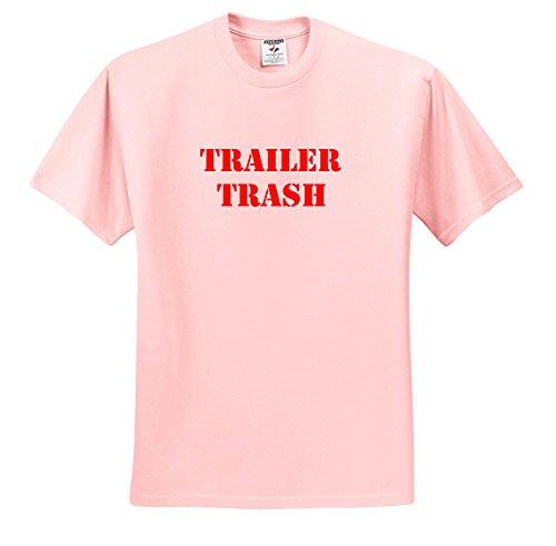 3dRose Trailer Trash - Trailer Trash Red - T-Shirts - Adult Light-Pink-T-Shirt 3XL (TS_261006_39)