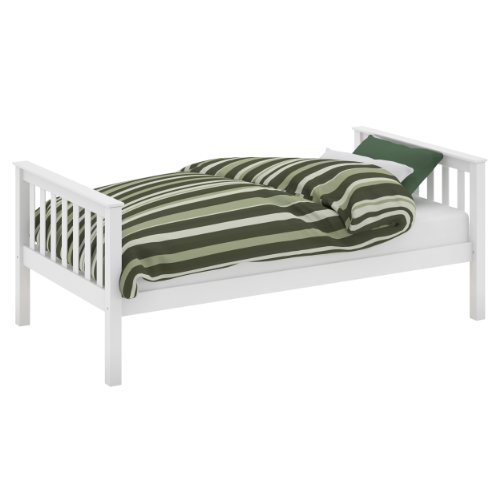 CorLiving BMB-415-S Monterey Solid Wood Bed, Single, White