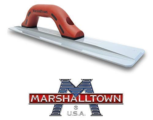 """The Concrete Slab Set – The Best Magnesium Hand Float 16"""" x 3'' 1/8 pair up with a Concrete Finishing Trowel 14'' x 4"""" by Marshalltown – More than 100 years of experience in Masonry Tools by The Quasar Concrete (Image #1)"""