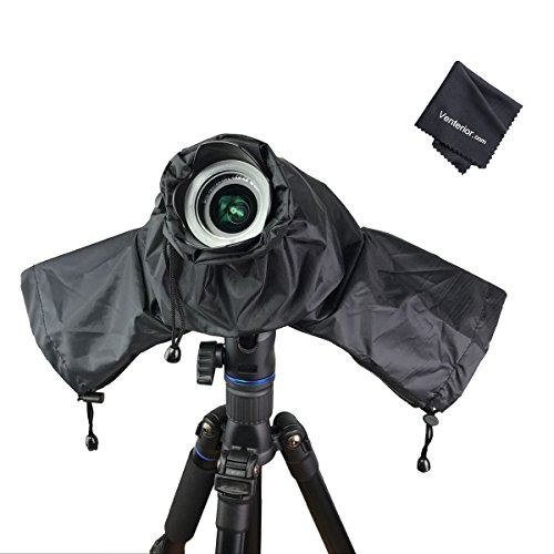 (Venterior Waterproof Rain Cover Camera Protector for Canon Nikon Pentax and Other DSLR Cameras - Protect from Rain Snow Dust Sand)