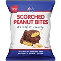 Scorched Peanut Bites New 140g Each X 12 Pack