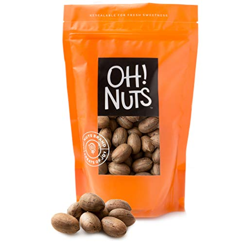Oh! Nuts Pecans in Shell | Low-Carb, High-Protein Keto Snacks | Resealable Stay-Fresh 2-Pound Bulk Bag | All-Natural, Premium Nuts in Shell Without Salt or Sugar | Healthy Vegan, Gluten-Free Snacking 1