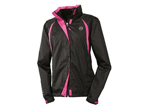 Damen Fahrrad Regenjacke Schwarz / Pink in verschiedenen Größen (L)