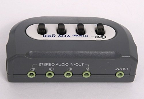 Coms 4 Port Stereo Manual Selector Audio Sharing Switch Box