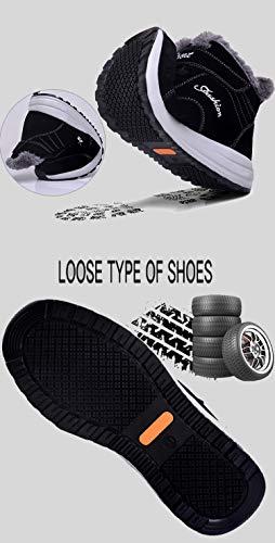 Femme Bottines Baskets Neige Bottes Chaudes Chaussures Homme Gris Tqgold Randonnée Hiver Imperméable De Fourrure q7TEHwg