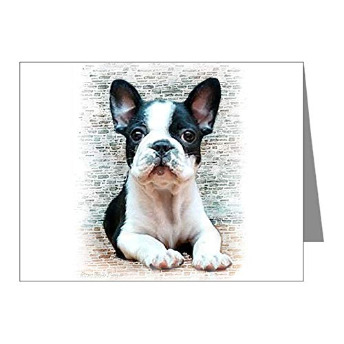 CafePress French Bulldog Blank Note Cards (Pack of 20) Glossy