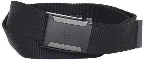 Columbia Men's Nylon web belt with military buckle,Black,One Size