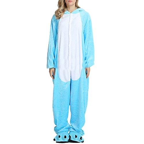 Mouse Lemur Costume (Bolaner Womens Animal Onesie Winter Sleepwear Halloween Cosplay Costume Pajamas)