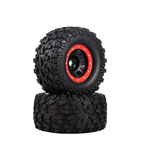 LAFEINA 2PCS 165mm 1/8 Monster Truck Tires and Beadlock Wheels Rims for 1:8 Scale TRAXXAS HPI Savage XL Flux HSP RC Model Car