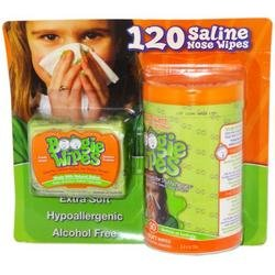 Fresh Scent Boogie Wipes Saline Nose Wipes 120 Ct., Health Care Stuffs