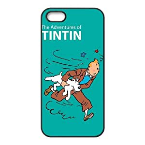 iPhone 4 4s Cell Phone Case Black TinTin cartoon eqqp