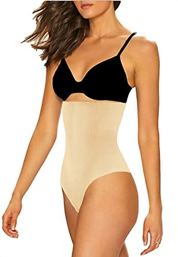 - FIRSTLIKE Women High Waist Cincher Girdle Tummy Slimmer Thong Panty Shapewear Seamless Body Shaper