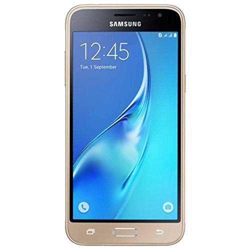 Samsung Galaxy J3 (2016) Duos SM-J320H/DS 8GB Dual SIM Unlocked GSM Smartphone - International Version, No Warranty (Gold) (Sim Duo Samsung Galaxy)