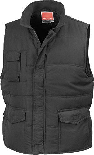 Gilet Vest Promo Full Jacket Result Adult Soft Windproof Black New Bodywarmer Feel Zip PzFqnB