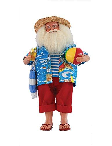 Santa's Workshop 8633 Beach Time Santa Figurine, 15'' ,,