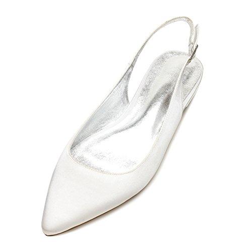 MarHermoso Toe Shoes Wedding Ballerinas Womens Pointed Evening Ivory Slingback rAtqrOxHnw