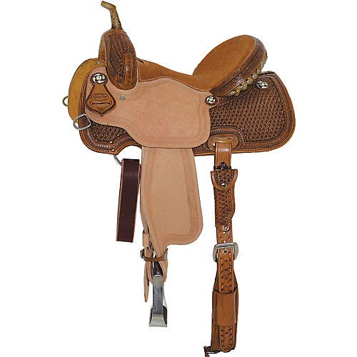Reinsman Snowflake Tooled Barrel Saddle 13.5 - Saddle Barrel Reinsman