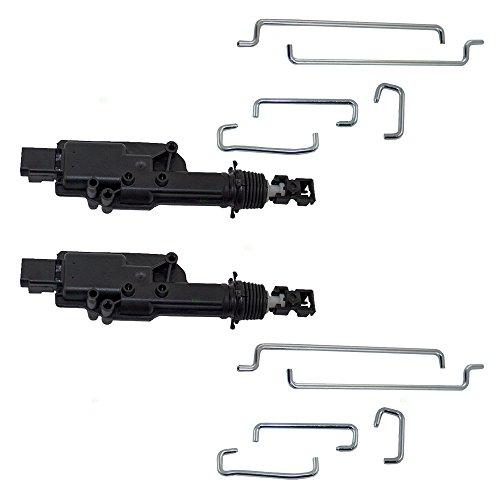 Set of Door Lock Actuators with Rods Replacement for Mercury Lincoln Ford Pickup Truck SUV Van 2L1Z7826594BA (Door Lock Actuator Bracket)