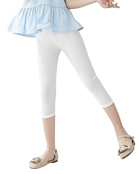 Quge Filles Jambières Leggings Adolescence Basique Opaque 3 4 Longueur  Capri  Amazon.fr  Vêtements et accessoires cd61e26acd29