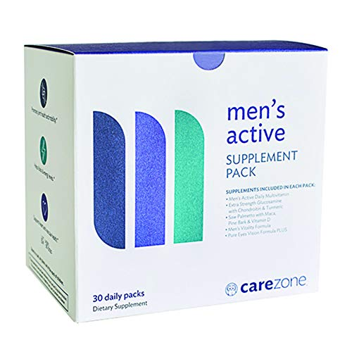 CareZone Men's Active Daily Vitamin & Supplement Packs - 30 Count
