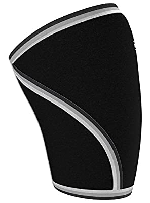 Nordic Lifting Knee Sleeves (1 Pair) Support & Compression for Weightlifting, Powerlifting & Cross Training - 7mm Neoprene Sleeve for the Best Squats - Both Women & Men