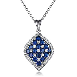 Emerald Ruby Sapphire Diamond Necklaces Pendant