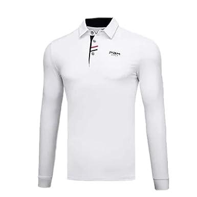 PGM Camisa De Golf De Manga Larga para Hombre Dry Fit, Absorción ...