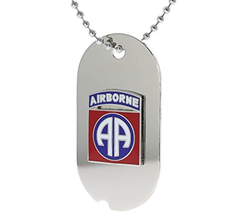 US Army 82nd Airborne Division Dog Tag Necklace H14674D36