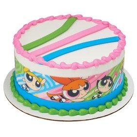 Girl Power Borders - Power Puff Powerpuff Girls Designer Strips Edible Cake Border Design Toppers