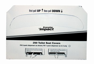 Impact 1150 Toilet Seat Cover, Box Size 10-1/2'' Height x 15'' Width x 1'' Depth, White (Case of 5000) by Impact Products