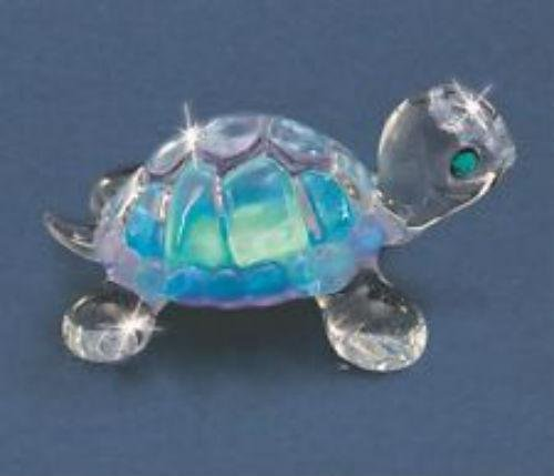 Goldia Top 10 Jewelry Gift Blue Turtle Glass Figurine from Goldia