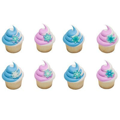 Snowflake Edible Assortment SugarSoft® Decorations Cupcake & Cake Toppers - 12 Count - Snowflake Icing Decorations