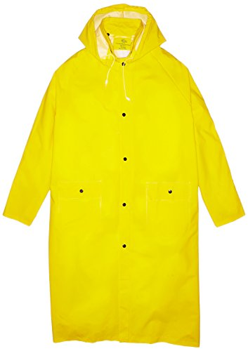 Boss 3PR8000YX 48-Inch Extra Large Yellow 35mm Lined PVC Raincoat (Lined Storm Parka)