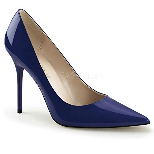Pleaser Women's Classique-20 Pumps Navy Blue