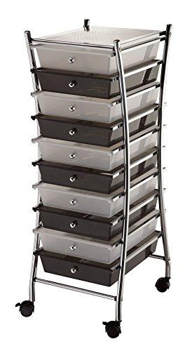 Blue Hills Studio SC10CSM-X X-Frame Storage Cart 10-Drawer (Standard) (10 Drawer Single)