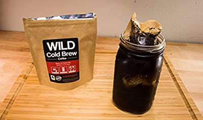 Cold Brew Coffee Kit, Brew-At-Home Coffee Pouch made with Wild Coffee, Organic, Fair trade, Single-origin, Fresh roasted, Premium, High-performance Coffee