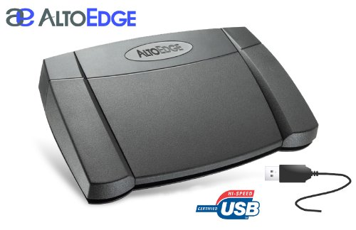 AltoEdge USB Transcription Foot Pedal by Infinity