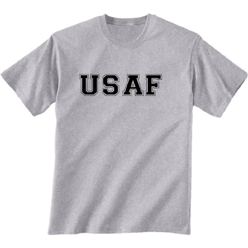 - USAF Air Force Short Sleeve T-Shirt in gray - Large