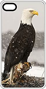 Eagle Sitting In Snow Fall Clear Rubber Case for Apple iPhone 4 or iPhone 4s