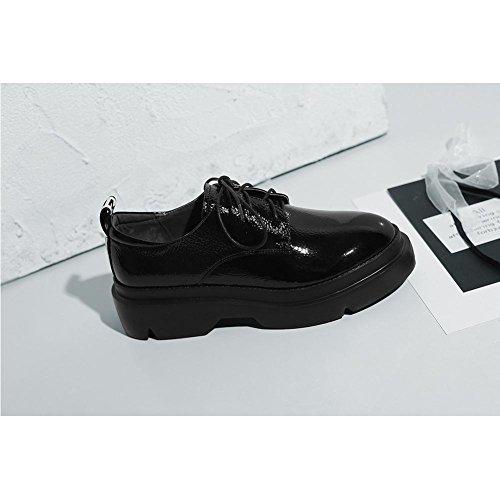 de Creepers à Minimaliste KJJDE en Plateformes Baskets Black A0907 Classique WSXY Femme Ville Chaussures Série Chaussures 781dqq6