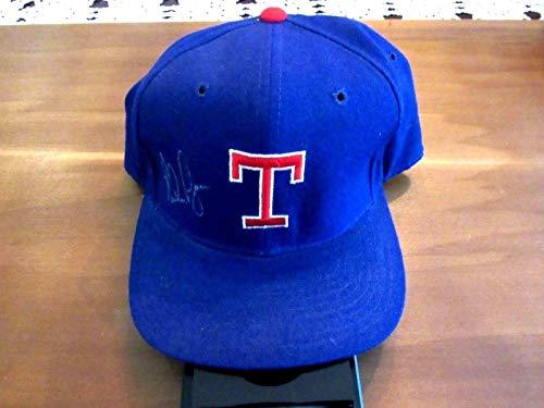 Texas Rangers Wool - Nolan Ryan 7 No-hitters Texas Rangers Hof Signed Auto Vtg Pro Wool Cap Hat - JSA Certified - Autographed Hats