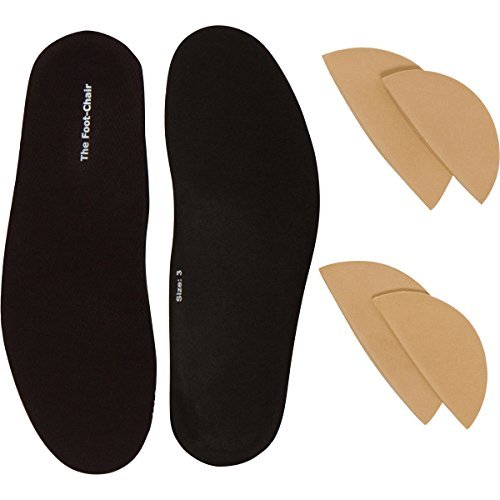 FootChair Orthotics with Pads for Adjustable Arch Height. Relieve Plantar Fasciitis and Other Foot Pain (Women's 9-10.5 / Men's 7-8.5)