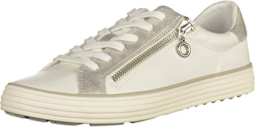 S Women''s Silver Sneakers White 23615 Low top oliver qv1rq8