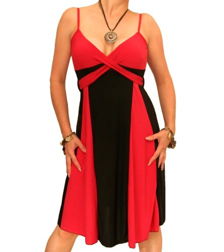 Blue Rot Schwarz Knie Banana Längen Kleid und O0ZArOUqw